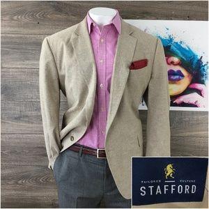 Stafford Mens Linen Cotton Blazer Sport Coat